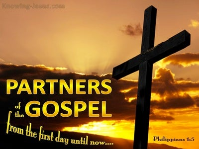 Philippians 1:5 Partners In TheGospel (yellow)